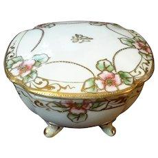 Vintage Hand-Painted Nippon Porcelain Vanity Box