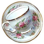 Vintage English Salisbury Bone China Cup And Saucer