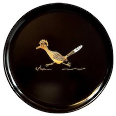 Vintage Couroc Of Monterey Round Road Runner Tray