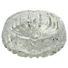 Antique Brilliant Cut Crystal Ashtray