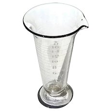 Early Vintage Glass Apothecary Beaker