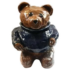 Original Art Pottery Paddington Bear Cookie Jar