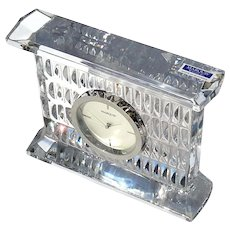 Waterford Crystal Large Paradox Clock In Original Box