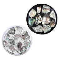 Vintage Pair Of Lucite And Abalone Wine Trivets