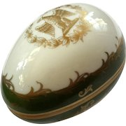 Vintage French Limoges Porcelain Egg Box