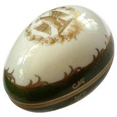 Vintage French Limoges Porcelain Egg Box