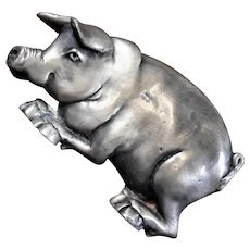 Leoma Lovegrove Solid Pewter Pig Paperweight