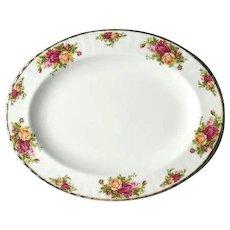 Vintage Royal Albert Old Country Roses Oval Serving Platter