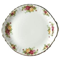 Royal Albert Old Country Roses Handled Cake Plate