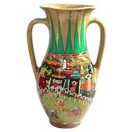 Large Early Vintage Mexican Pottery Vase
