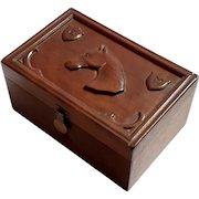 Early Vintage Folk Art Carved Wood Box