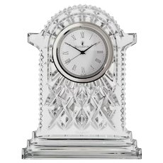 Large Waterford Crystal Lismore Carriage Clock