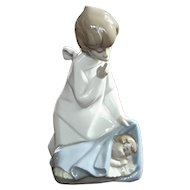 Vintage Lladro Angel With Sleeping Baby