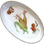 Royal Worcester Large Oval Evesham Porcelain Dish