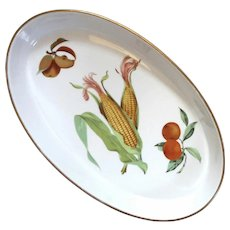Royal Worcester Large Oval Evesham Porcelain Dish