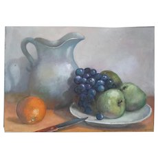 Vintage Signed Still Life Painting