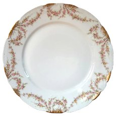 Set Of Five Signed French Haviland Limoges Dinner Plates
