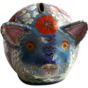 Vintage Chinese Cloisonne Pig Bank