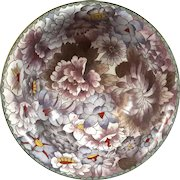 Vintage Chinese Cloisonne Floral Bowl