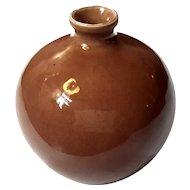 Early Vintage Japanese Awaji Pottery Vase