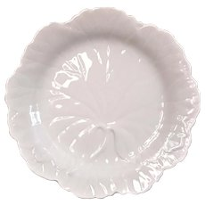 Early Vintage Leaf Shape Salad Plate In Drabware By Wedgwood