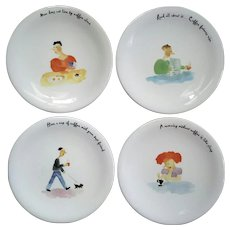 Set Of Four Italian Mosca For Neiman Marcus Plates
