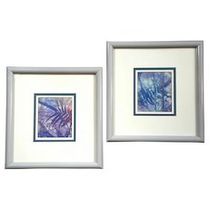 Pair Of Artist Signed Watercolor Paintings