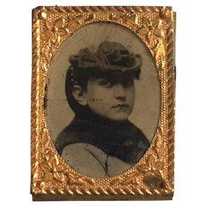 Tiny 19th Century Tintype Of A Woman