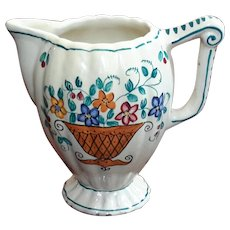 Antique Florentine Faience Glazed Pottery Creamer