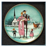 Anna Perenna Limited Edition Christening Porcelain Plate