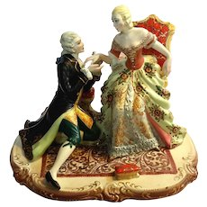 Large Antique Italian Capodimonte Porcelain Figural Group
