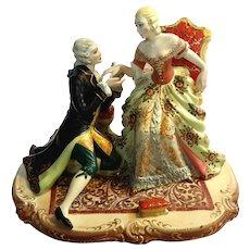 Large Antique Italian Capodimonte Porcelain Figural Group