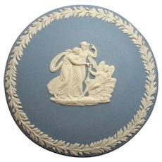 Vintage Signed Wedgwood Blue Jasperware Box
