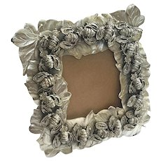 Italian Silver Plated Flora & Fauna Picture Frame