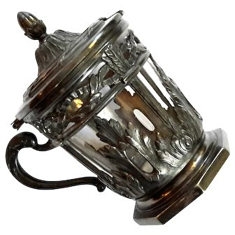 Antique Hotel Silver Jam Jar