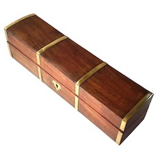 Rosewood Box With Brass Trim