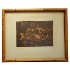 Signed Wynn Hopkins Copper Etching
