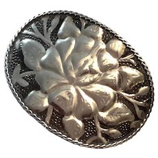 Vintage Silver Plated Belt Buckle