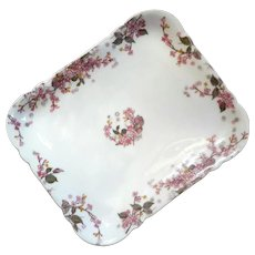 Haviland Limoges Floral Porcelain Tray