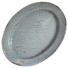 Antique Graniteware Oval Platter
