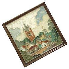 Royal Delft De Porceleyne Fles Cloisonne Tile