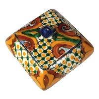 Vintage Italian Deruta Majolica Pottery Box