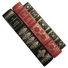 Set Of Three Franklin Library Leather Books