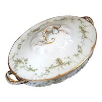 Antique French Haviland Limoges Porcelain Tureen