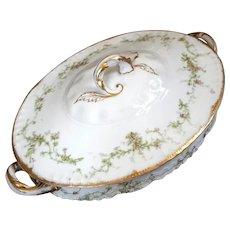 Antique French Haviland Limoges Porcelain Tureen