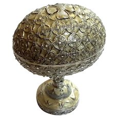 Jeweled And Enameled Metal Egg Music Box