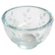 Vintage Signed Orrefors Etched Crystal Bowl