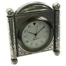 Small Brighton Silver Tone Clock
