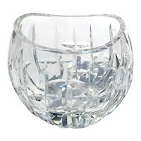Early Vintage Signed Irish Waterford Crystal Pillow Vase