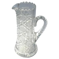 Antique Brilliant Cut Glass Pitcher